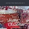 Vintage Creative Typographic Collection vector typography templates 9 preview small