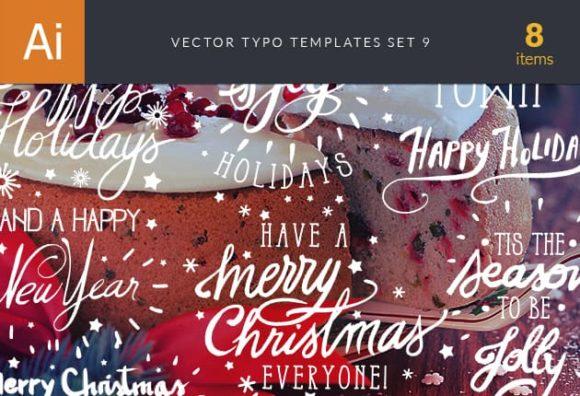Vector Typography Templates Set 9 1