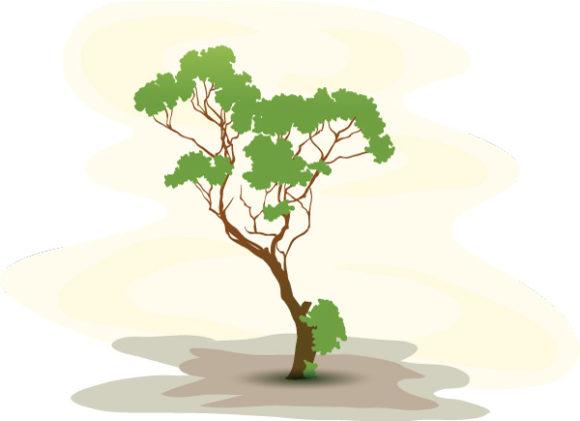 Tree, Vector Vector Graphic Vector Green Tree Background 5