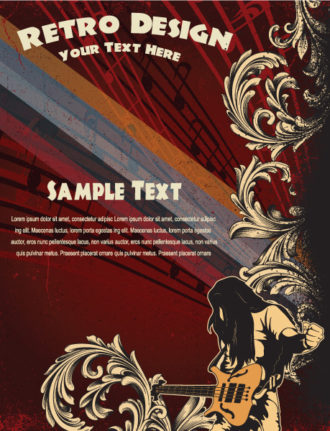 Vector Grunge Concert Poster Vector Illustrations old