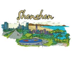 Shenzhen Doodles Vector Illustration Vector Illustrations palm