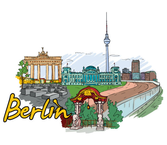 Berlin, Doodles Vector Artwork Berlin Doodles Vector Illustration 02 06 2011 65