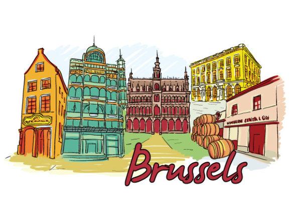 Illustration Vector Design Brussels Doodles Vector Illustration 02 06 2011 68