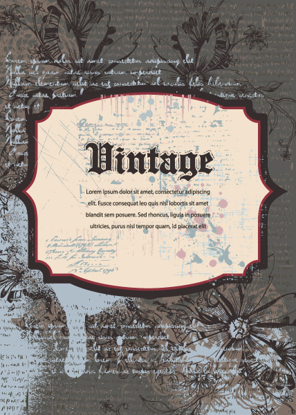 Special Background Vector Image: Vintage Background Vector Image Illustration 5