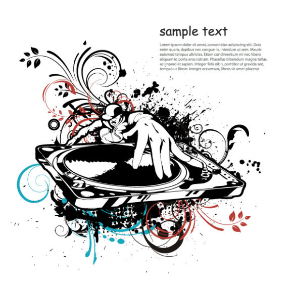 Dj, Illustration Vector Image Vector Music Illustration With Dj 02 08 2011 51