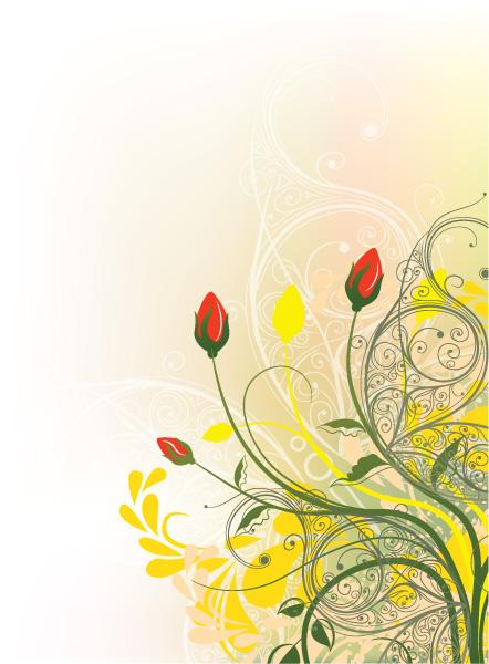 Floral Vector Art: Floral Background Vector Art Illustration 5