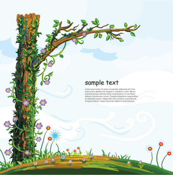 Cartoon Background Vector Illustration 02 08 2011 73