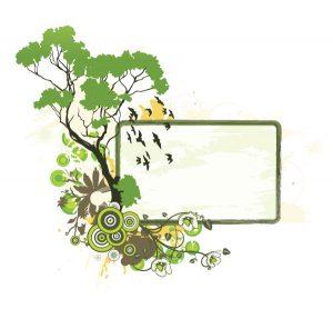 Floral Frame Vector Illustration Vector Illustrations tree