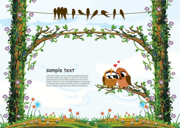 Surprising Vector Vector Graphic: Love Birds Vector Graphic Illustration 02 08 2011 76
