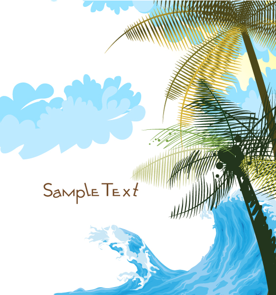 New Vector Vector Graphic: Abstract Summer Background Vector Graphic Illustration 03 05 2011 3