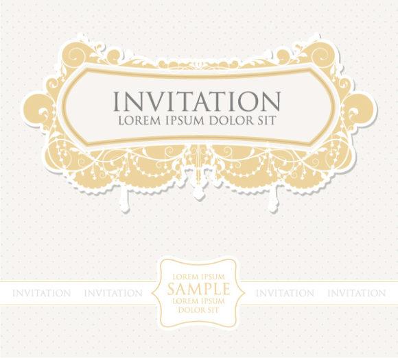 Vector, Illustration Vector Graphic Vintage Invitation Vector Illustration 5