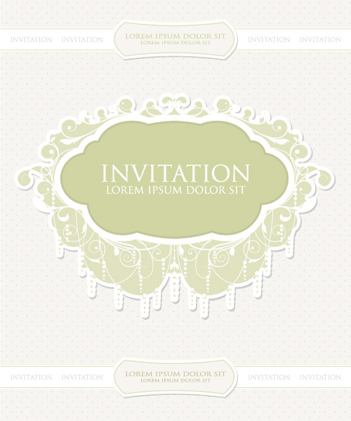 New Illustration Vector Design: Vintage Invitation Vector Design Illustration 03 05 2011 52