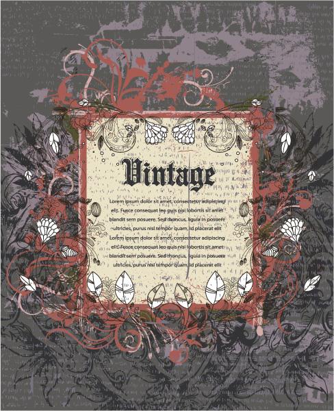 Illustration Vector Artwork: Vintage Frame Vector Artwork Illustration 5