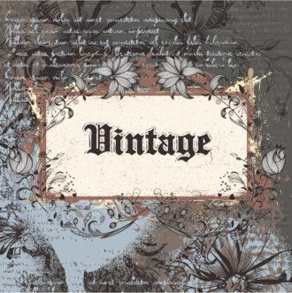 Vintage Frame Vector Illustration Vector Illustrations old