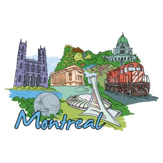Montreal Doodles Vector Illustration Vector Illustrations tree
