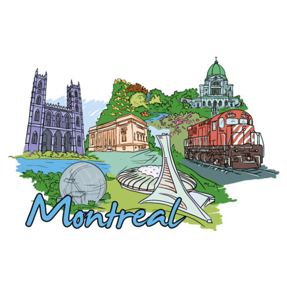 Download Illustration Vector: Montreal Doodles Vector Illustration 03 06 2011 61