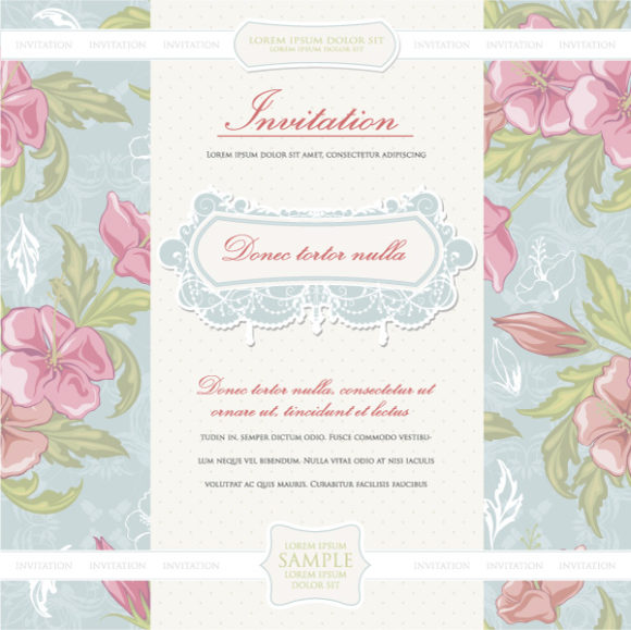 Exciting Abstract-2 Vector Design: Vintage Invitation Vector Design Illustration 04 05 2011 52