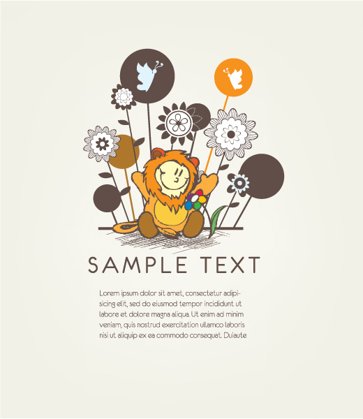 Floral Vector Background: Vector Background Floral Background With Cute Kid 05 04 2011 4