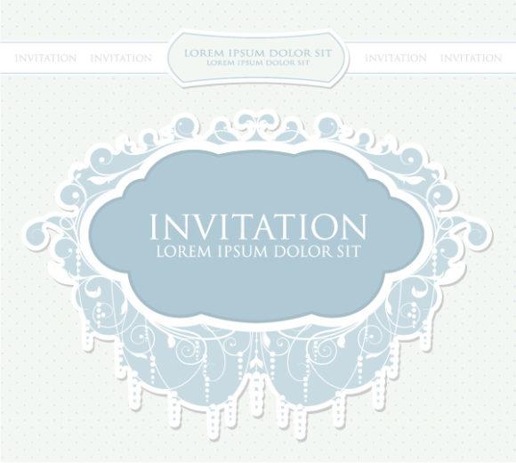 Insane Invitation Vector Image: Vintage Invitation Vector Image Illustration 5