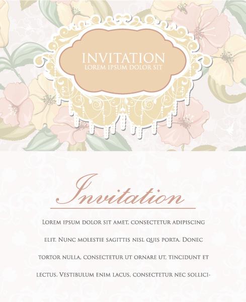 Frame, Vector Vector Illustration Vintage Invitation Vector Illustration 06 05 2011 11