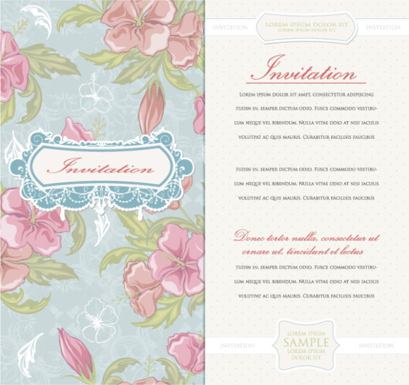 Amazing Invitation Vector Background: Vintage Invitation Vector Background Illustration 06 05 2011 12