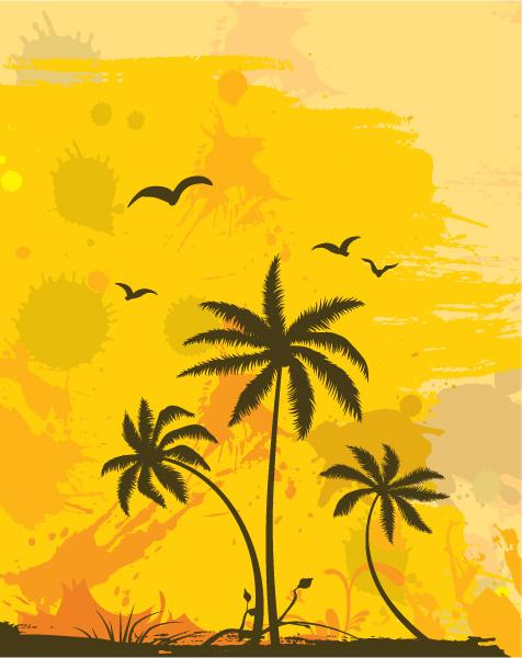 Background, Vector, Dirt Vector Graphic Grunge Summer Background Vector Illustration 5