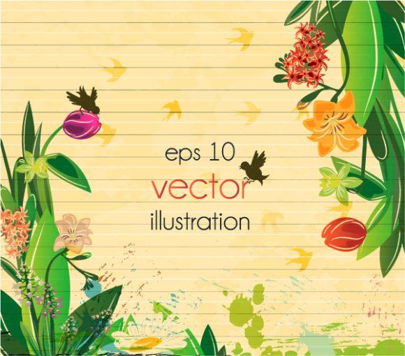 New Vector Vector Image: Vintage Floral Background Vector Image Illustration 06 05 2011 6