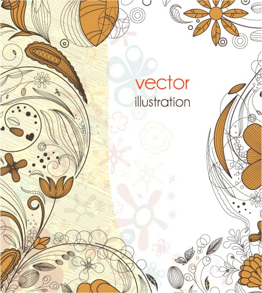 Exciting Background Eps Vector: Eps Vector Abstract Floral Background 06 06 2011 51