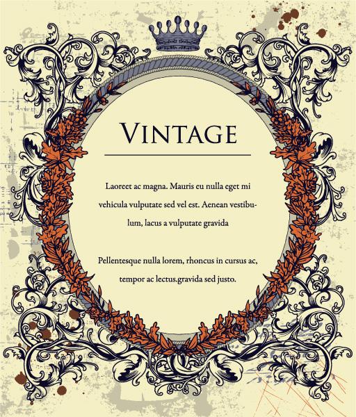 Smashing Frame Vector Artwork: Vector Artwork Vintage Floral Frame 5