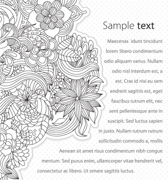 Brilliant Vector Vector Graphic: Vector Graphic Abstract Floral Background 5