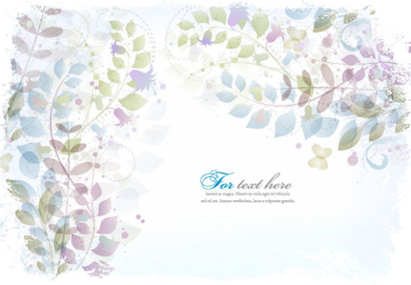 Vector, Floral Vector Image Vector Abstract Floral Background 06 06 2011 69