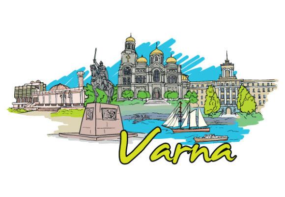 Varna Doodles Vector Illustration Vector Illustrations tree