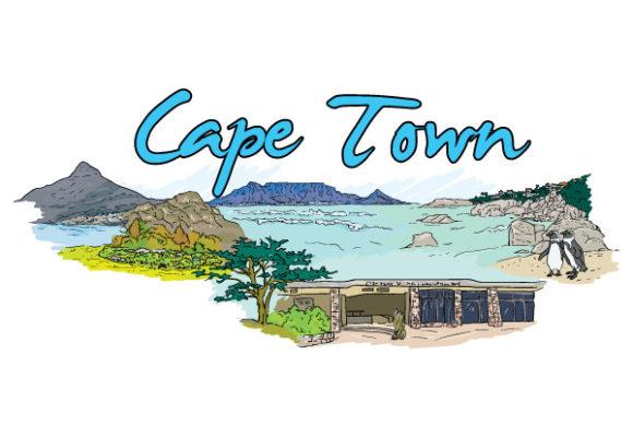 Vector, Cape, Illustration Vector Design Cape Town Doodles Vector Illustration 5