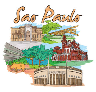 Sao Paulo Doodles Vector Illustration Vector Illustrations tree