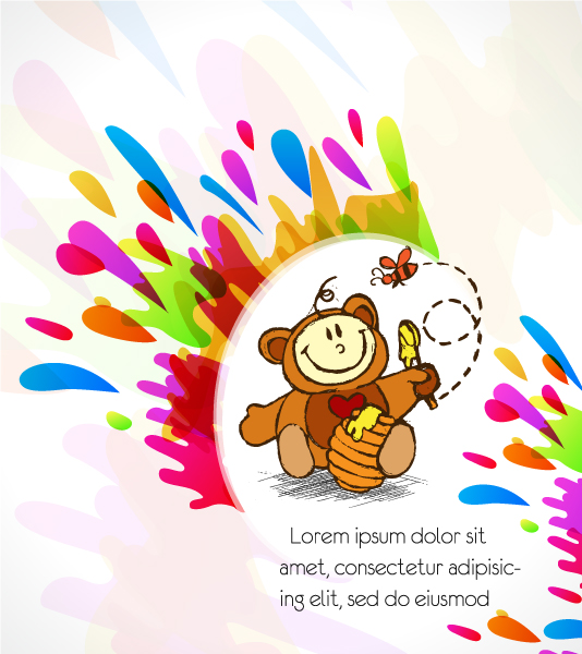 Background, Vector Vector Artwork Kid With Colorful Background Vector Illustration 07 04 2011 3