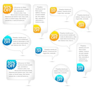 Vector Speech Bubbles Set Scenes vector