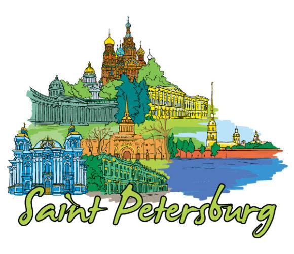Special Petersburg Vector Artwork: Saint Petersburg Doodles Vector Artwork Illustration 5