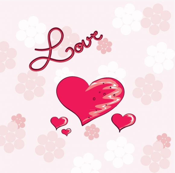 Text, Vector, Love Vector Graphic Valentines Background Vector Illustration 07 06 2011 55