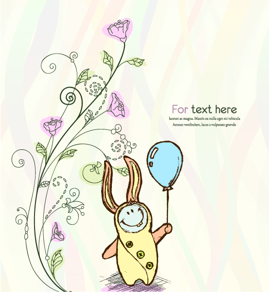 Striking Leaf Vector Graphic: Vector Graphic Cute Kid With Baloon 08 04 2011 15