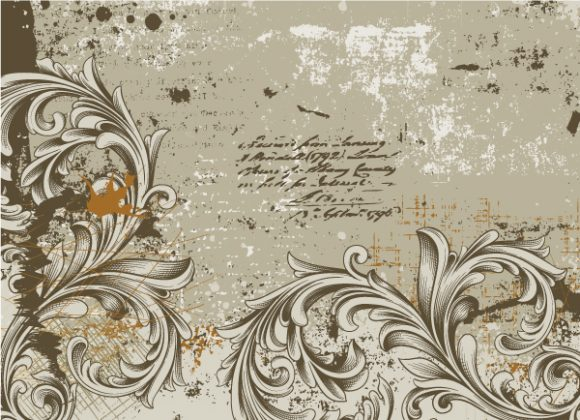 Gorgeous Background Eps Vector: Grunge Floral Background Eps Vector Illustration 08 04 2011 2