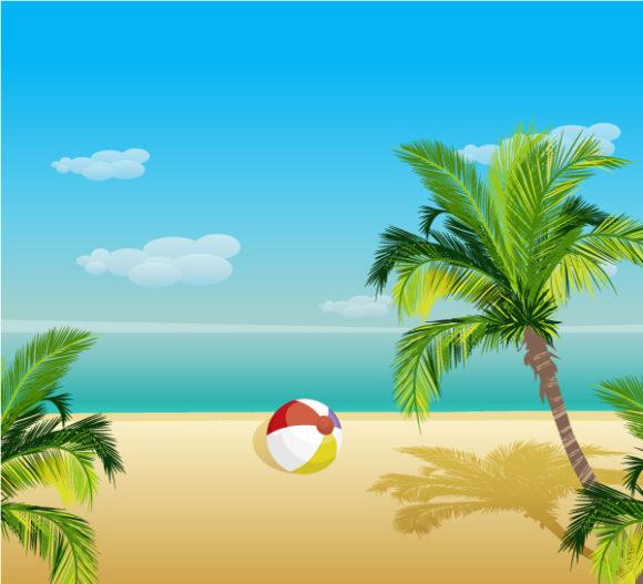 Summer, Vector Vector Artwork Summer Background Vector Illustration 5