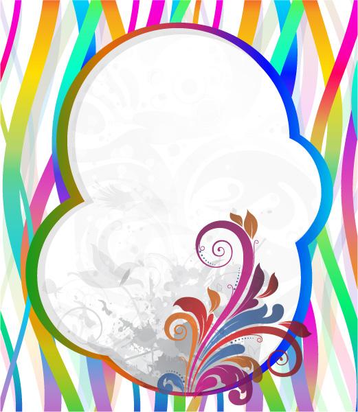 New Floral Vector Illustration: Vector Illustration Colorful Floral Frame 08 04 2011 73