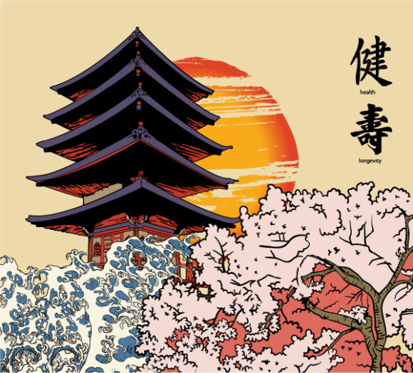 Illustration, Background Vector Art Japanese Background Vector Illustration 08 07 2011 56