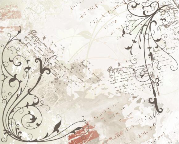 Awesome Background Vector Illustration: Grunge Floral Background Vector Illustration Illustration 08 07 2011 65