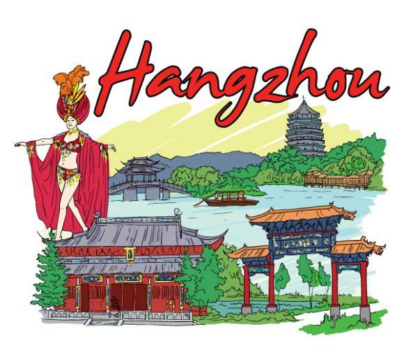 Doodles, Illustration Vector Illustration Hangzhou Doodles Vector Illustration 08 07 2011 93