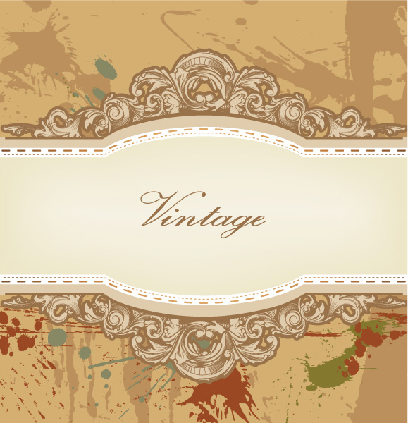 Lovely Vector Vector Image: Vector Image Vintage Background With Floral 5