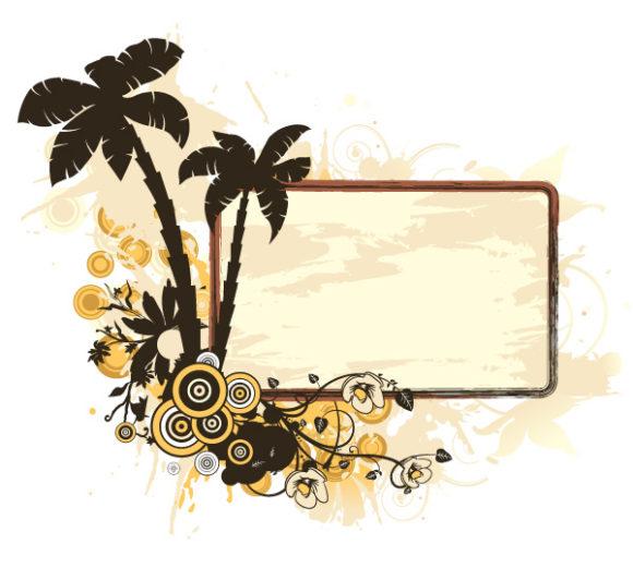 Awesome Frame Vector Image: Vintage Summer Frame Vector Image Illustration 09 05 2011 64