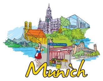 Munich Doodles Vector Illustration Vector Illustrations tree