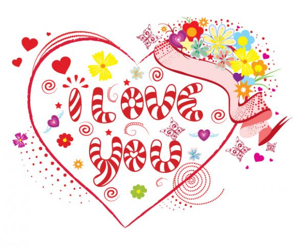 Text Vector Design Vector Valentines Day Illustration 09 08 2011 53