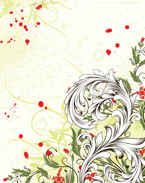 Exciting Vector Vector Design: Grunge Floral Background Vector Design Illustration 5